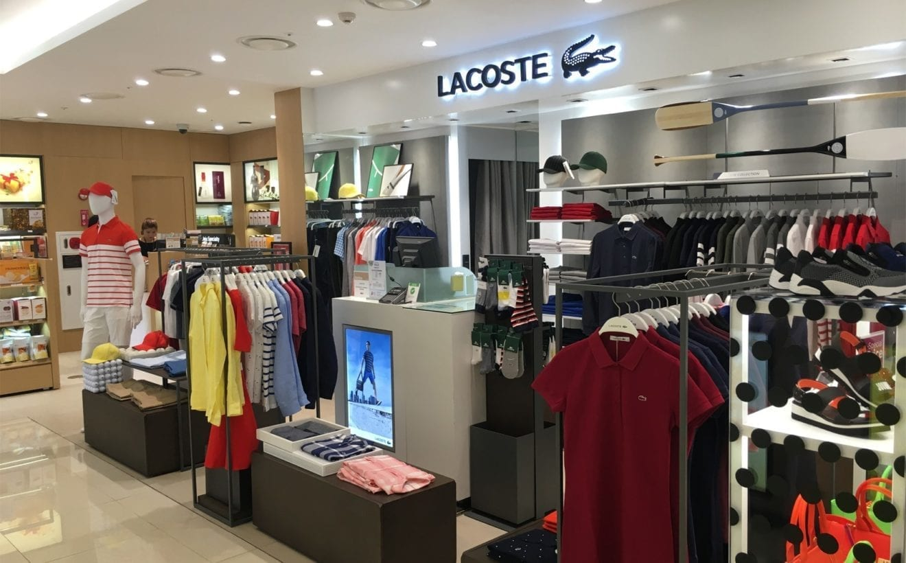 1513573c2961f7 Lacoste opens a store at Lotte duty free World Tower