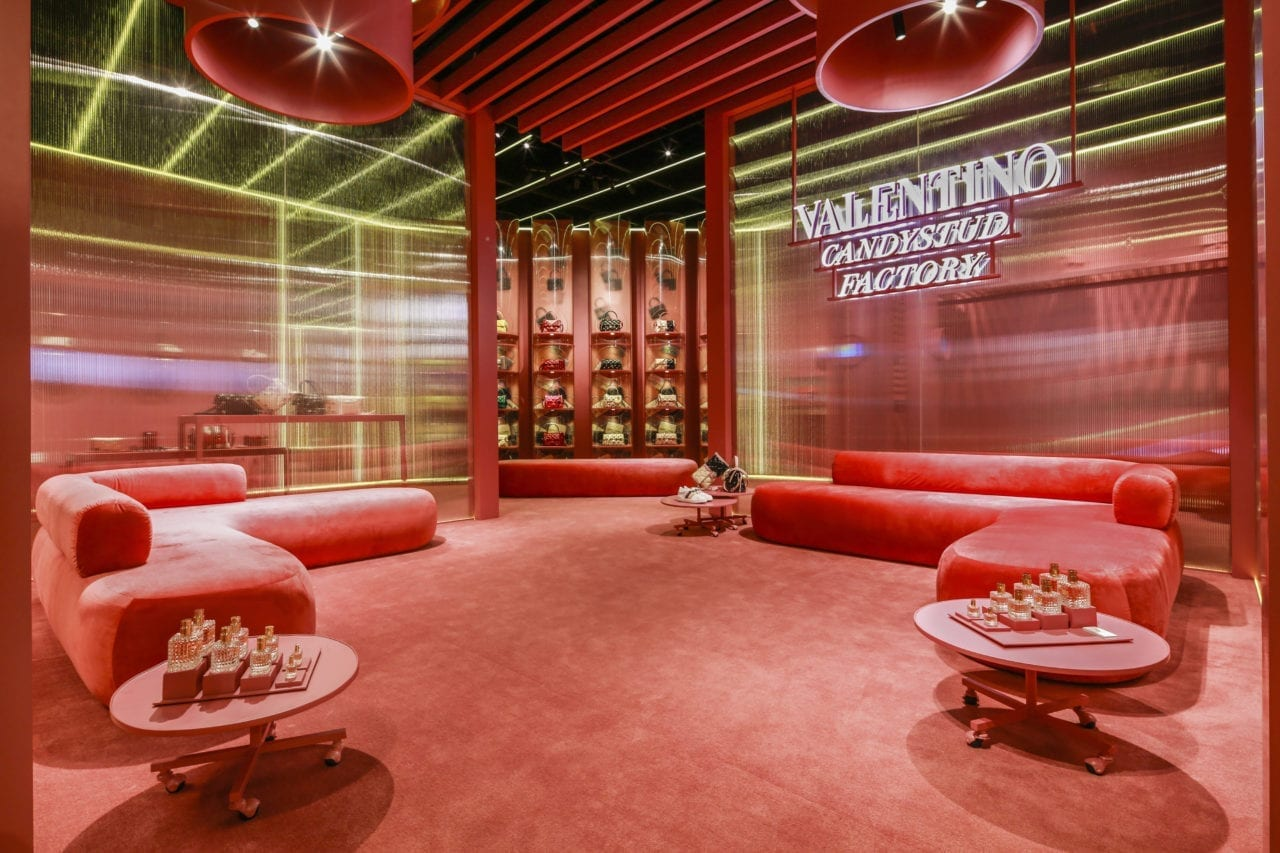7a2af810ac9 Candystud Factory  The New Valentino Popup Store in Beijing