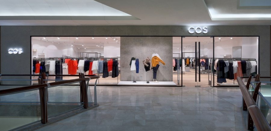 eebcb5a27 The store s minimalist decor features Vicenza stone surfaces set off by the  brighter tones of the fashions on display. Cos Garden Mall has opened ...