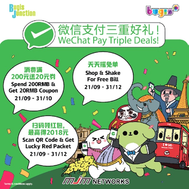 WeChat Pay embarks on first mall partnership in Singapore