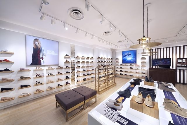 buying new los angeles fast delivery Clarks Shoes new store design showcased in Singapore store ...