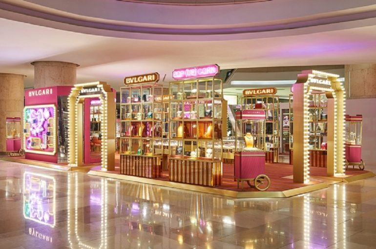 83a7119979af Bvlgari s cinema themed pop-up at Singapore s ION Orchard mall